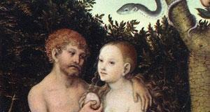 Adam and Eve in the Garden of Eden', 1531, by Lucas Cranach the Elder