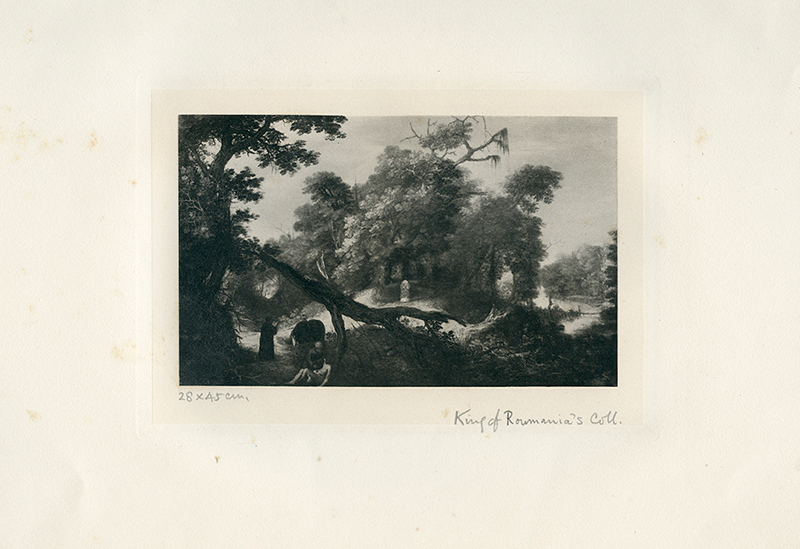 Adam Elsheimer (1578-1610) / Ecole de Franconie/ Le Bon Samaritan / (No. 98). The print is annotated in pencil with the inscription:  '28 x 45 cm/ King of Romania's Coll.' Photogravure (Witt /Conway collection – Box: German 17th Century)