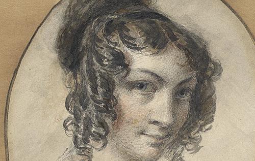 Georgina McCrae. 'Self-portrait' (detail) 1829