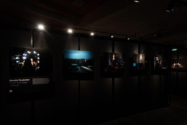 Newsha Tavakolian's photo series displayed within the exhibition