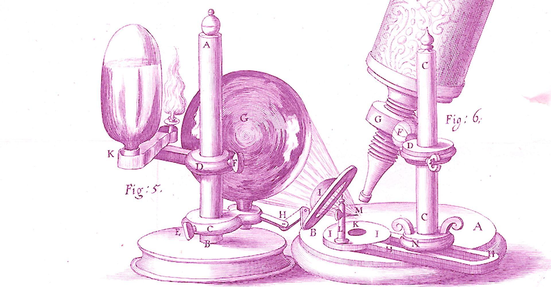 purple illustration of experiment