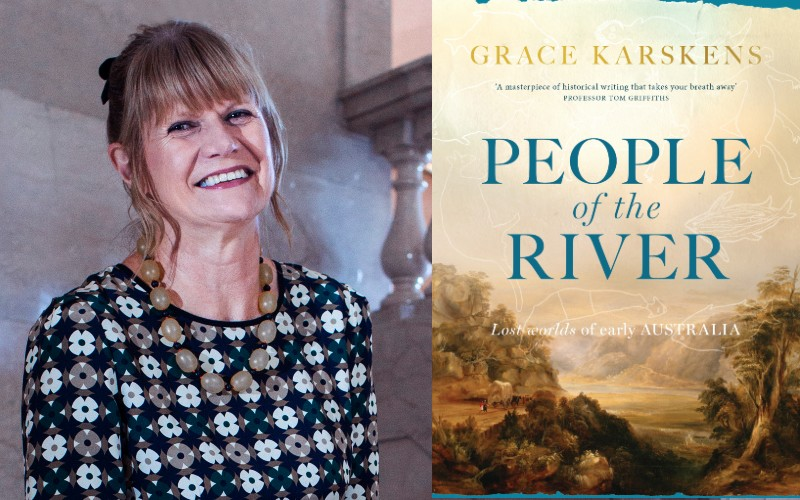 An image of the People of the River book cover and authour Grace Karskens