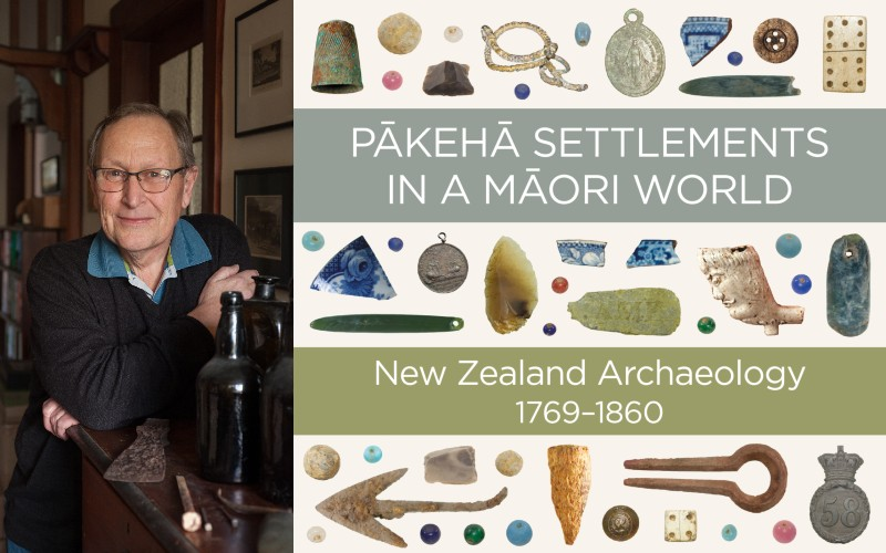 An image of the Pākeha Settlements in a Māori World book cover and author Ian Smith