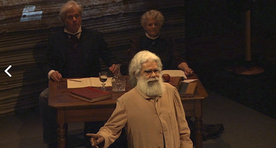 Actor and Coranderrk descendant Uncle Jack Charles portrays Wurundjeri Elder William Barak