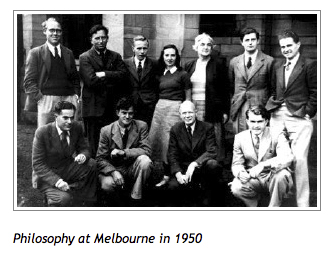 Philosophy Department at The University of Melbourne 1950