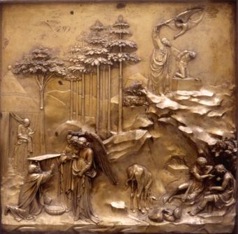 Ghiberti, Paradise Doors (detail), Baptistery, Florence