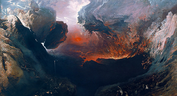John Martin  (1789-1854) 'The Great Day of His Wrath' c. 1853 (detail)