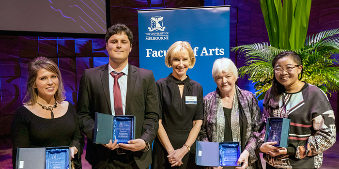 2018 Faculty of Arts Alumni Award winners