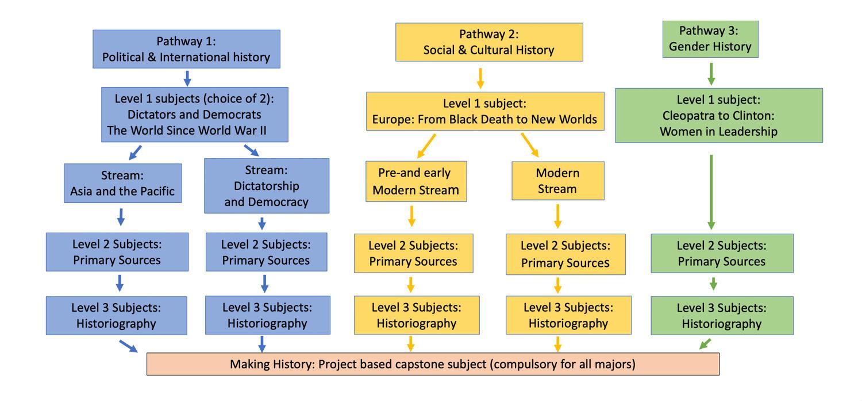 History major pathways