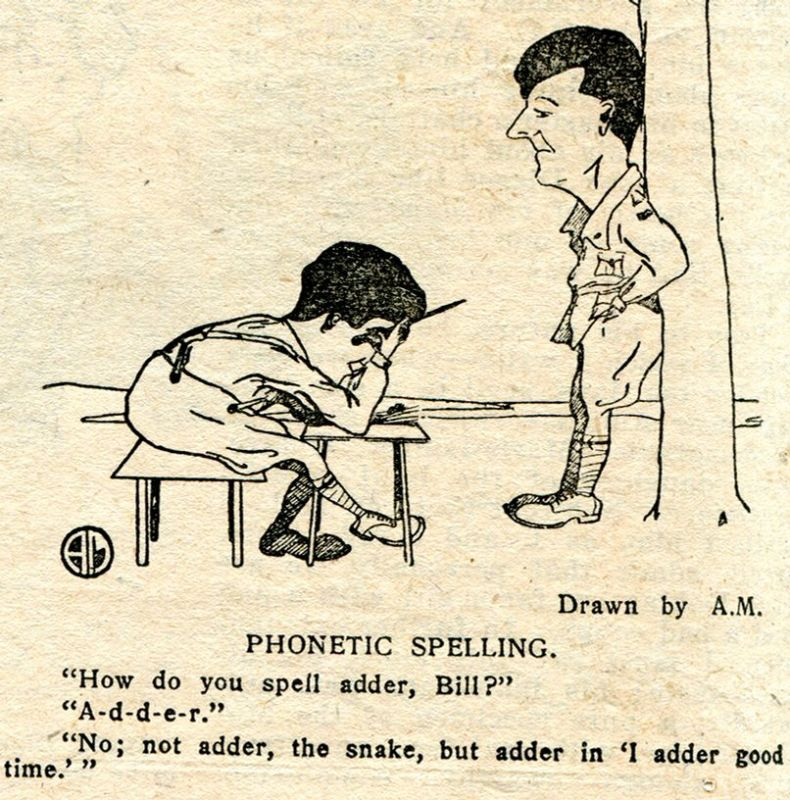 cartoon with one man standing and another man bending over on a chair