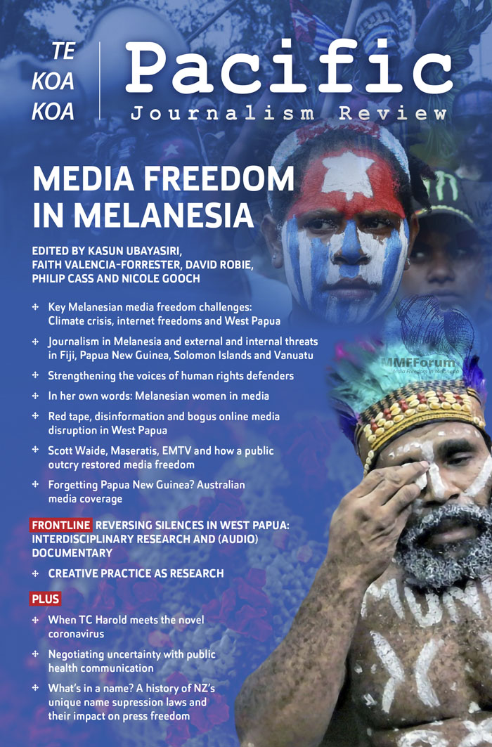 Cover of Pacific Journalism Review Vol. 26 No. 1 (2020): Media freedom in Melanesia
