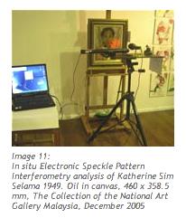In situ Electronic Speckle Pattern Interferometry analysis of Katherine Sim Selama 1949