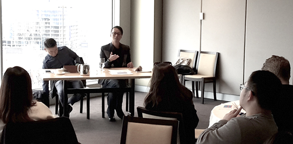 Professor John Erni and Dr Yiu Fai Chow at the Media, Mobilities and Identities in the Asia-Pacific masterclass