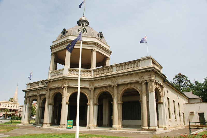 View of the Returned Soldiers' Memorial Hall Bendigo