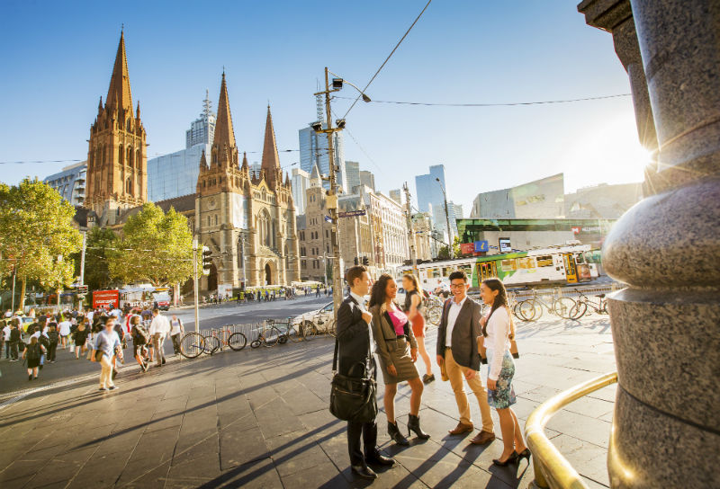 Students in Melbourne's CBD