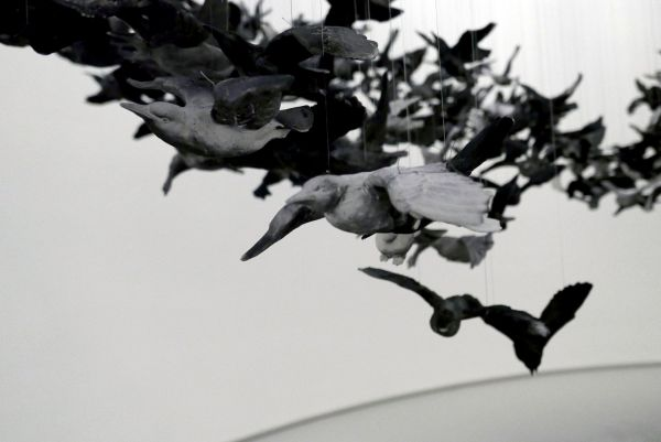 Cai Guo-Qiang. 'Murmuration (landscape)' 2019 (detail)