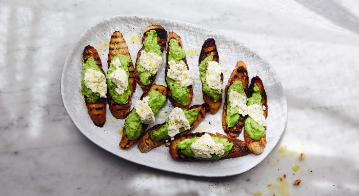 New bigilla crostini. Image by Armelle Habib.