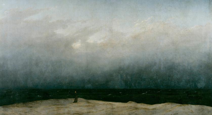 Caspar David Friedrich. 'Der Mönch am Meer' 1808-1810 (detail)