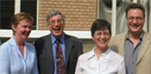 Dr Catrin Norrby, Professor Michael Clyne, Dr Jane Warren, Dr Leo Kretzenbacher (pictured right)