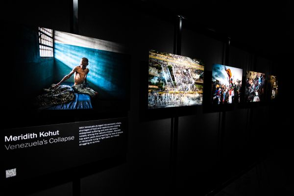 Meredith Kohut's photo series displayed within the exhibition