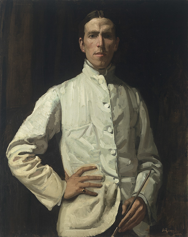 Hugh Ramsay (born Scotland 1877, arrived Australia 1878, died 1906) 'Self-portrait in white jacket' 1901–02