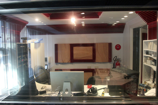 Horwood recording studio control room