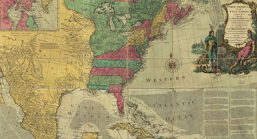 North America, and the West Indies; a new map
