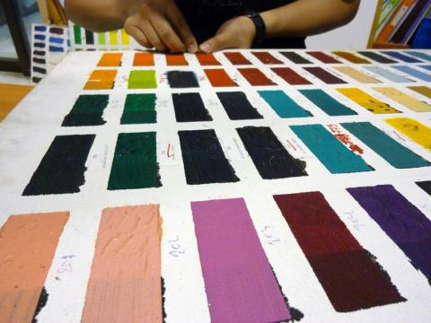 Ageing of Silpakorn University Artists Paints, Material Research Centre for Art and Design from Silpakorn University.