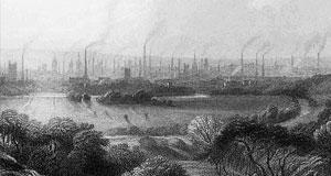 Engraving by Edward Goodall (1795-1870) original title 'Manchester', from Kersal Moor