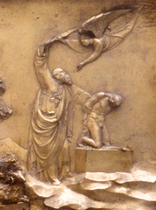 Ghiberti, Paradise Doors - detail, Museo dell'Opera del Duomo, Florence (Photograph: Andrew Stephenson)
