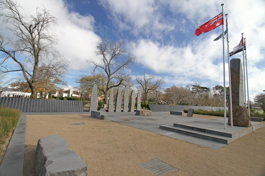 View of the Balllarat prisoner of war memorial