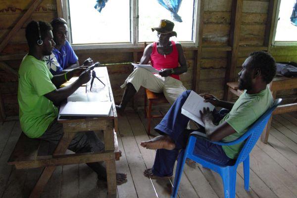 Local cultural research at the Kulu Language Institute, Solomon Islands.