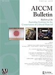 Australian Institute for the Conservation of Cultural Materials Bulletin