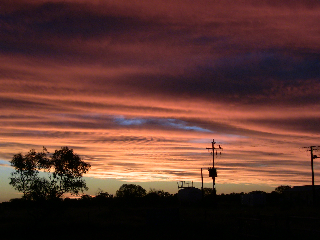 Sunset over Murray Downs