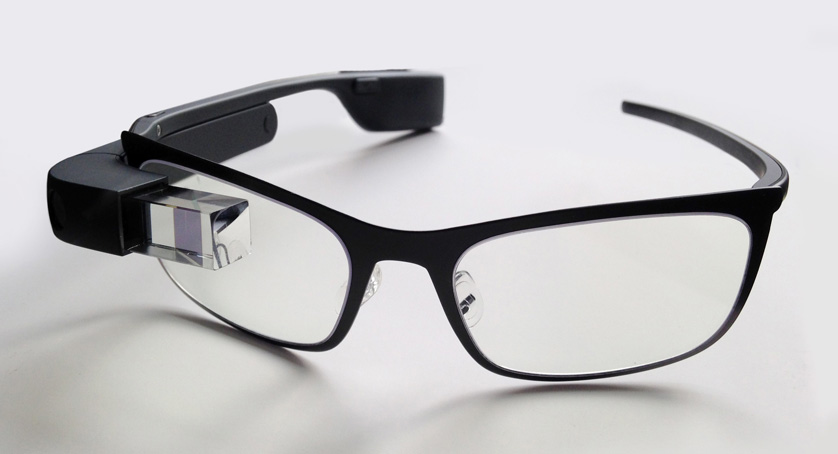 Google Glass with frame for prescription lens