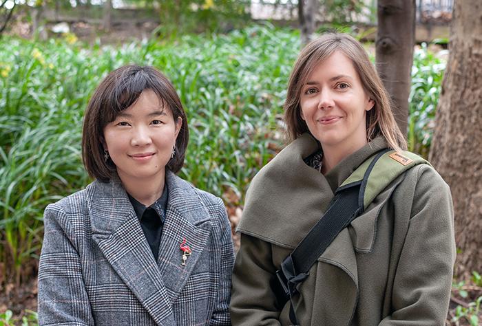 Dr Min Jiang and Dr Sarah Rogers