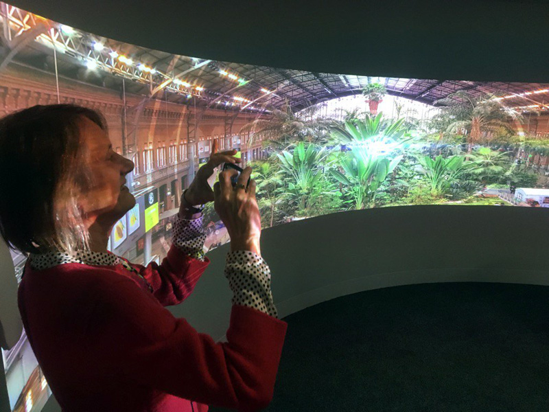 Professor Rachel Fensham in our immersive room