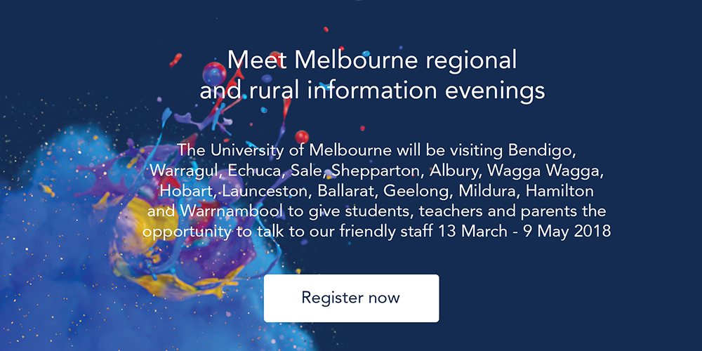 Meet Melbourne regional & rural information evenings