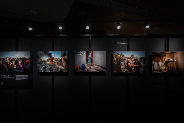 Ivor Prickett's photo series displayed within the exhibition