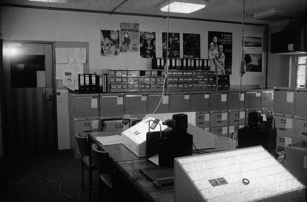 Slide Library, John Medley Building, c. 1986