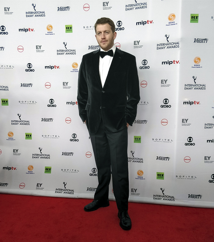 University of Melbourne Alumnus Joe Brukner walks the red carpet