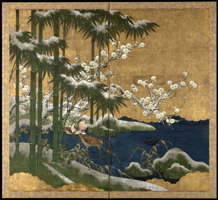 Unknown. 'Bamboo, plum blossom and mandarin ducks' 18th century