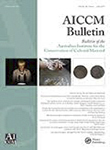 The Bulletin of the Australian Institute for the Conservation of Cultural Materials