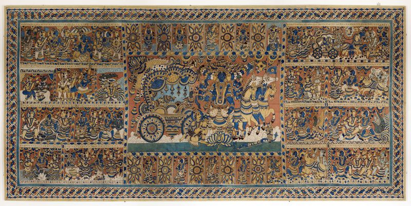 Unknown maker (India) 'Untitled (scenes from the Bhagavad Gita and the life of Krishna)' (c. late 20th century)
